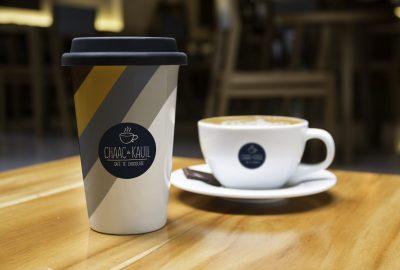 diseño de taza de cafe