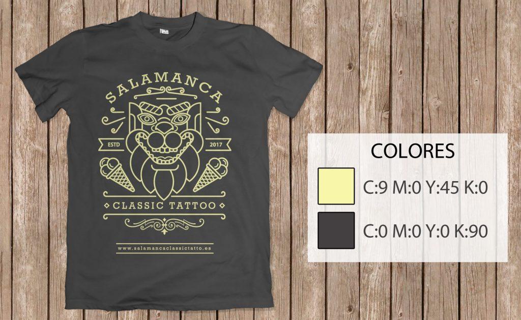 diseño de camiesta tattoo